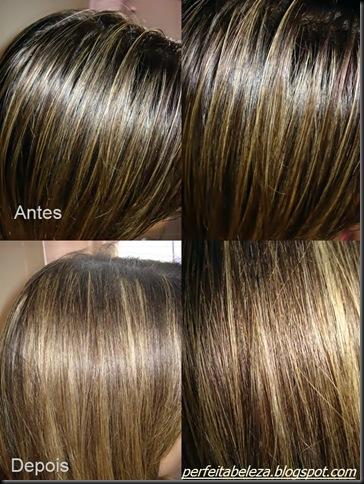 Antes e Depois do shampoo a seco