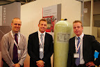 Sean Ellen of Xperion Alpha (left) with Prins managing director Bart van Aerle and marketing chief John Wouters.