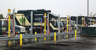 GESI time-fill CNG installation fuels vehicles for Groot Industries in Illinois.