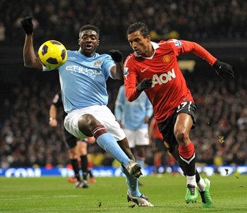 Toure and Nani, Manchester City - Manchester United