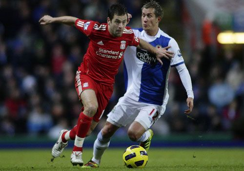 Joe Cole with Morten Gamst Pedersen,  Blackburn - Liverpool