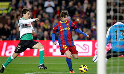 Messi, Barcelona - Racing Santander