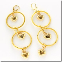 Hold My Heart Gold Earrings