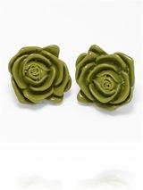 Lime Rose Earrings