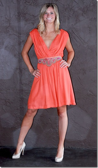 French Connection Orange Dress F