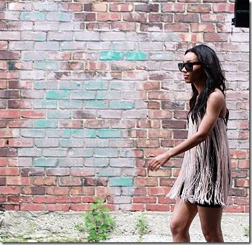 Blaque Label Fringe Dress