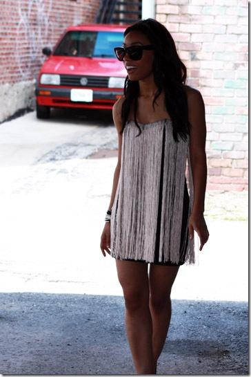 Blaque Label Fringe Dress2