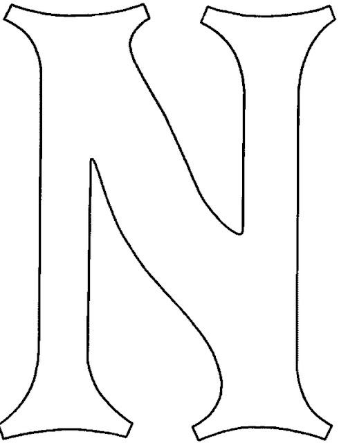Moldes de letras - Letras para letreros grandes ...