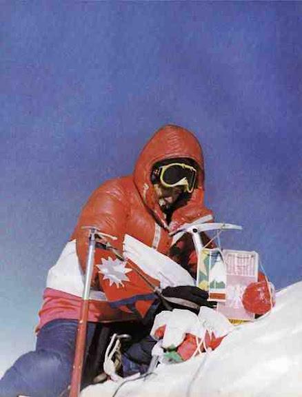 Andrzej Czok na szczycie Everestu 1980 r