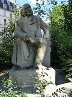 Statue de Branger dans le square du Temple, par Henri Lagriffoul