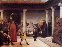 L'éducation des fils de Clovis par Alma Tadema