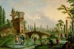 Carmontelle - Remise de la folie Monceau au duc de Chartres