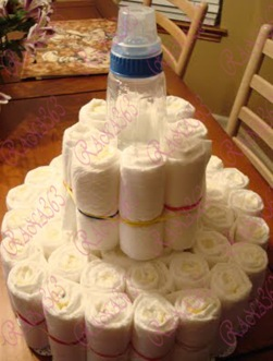Diaper Cake Tutorial 009