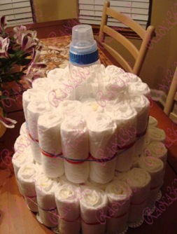 Diaper Cake Tutorial 010