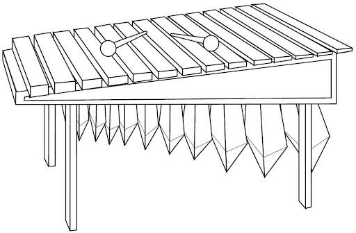 Marimba dibujada - Imagui