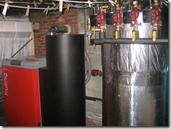 Froling P4 20/25 and 220 Gallon Storage tank