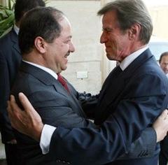 Mesut Barzani_Bernard Kouchner
