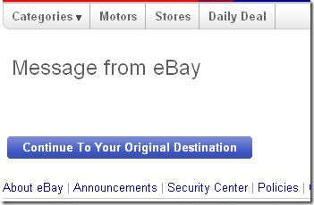 ebay important message