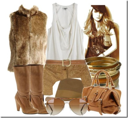 Shorts camel 2