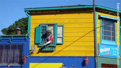 Colorful House in El Caminito in the La Boca Neighborhood, Buenos Aires