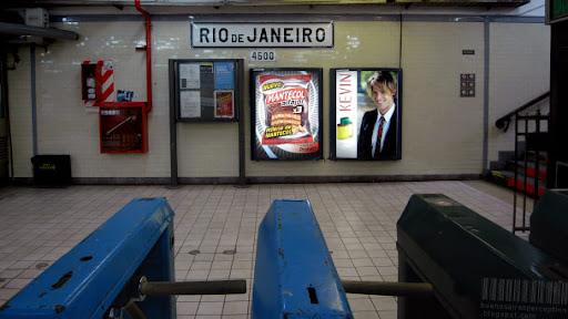 Subte Station Rio de Janeiro of Line A in Buenos Aires, Argentina