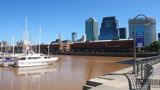 Marina in Puerto Madero in Buenos Aires, Argentina