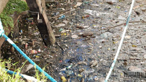 River Riachuelo Polluted with Industrial Waste in La Boca Buenos Aires, Argentina