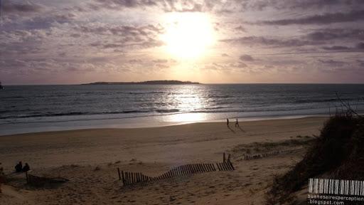 Secluded Beach in the Evening Sun in Punta del Este, Uruguay