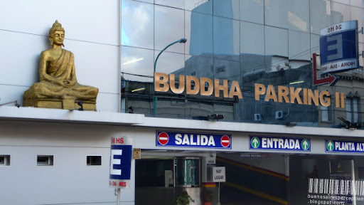 Buddha Parking in the Palermo Neighborhood in Buenos Aires, Argentina