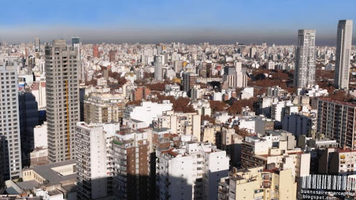 Concrete Cityscape, a Southbound Panorama of Buenos Aires, Argentina