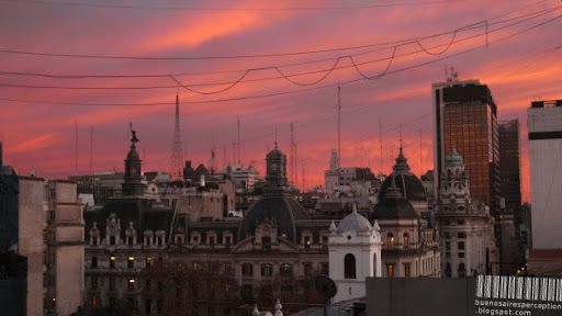 Buenos Aires is Glowing like a Ruby in the Winter Morning Sun of Argentina
