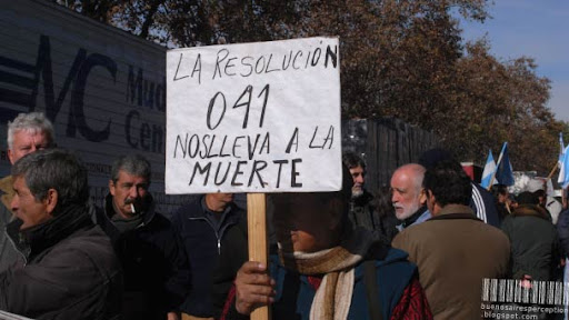 Dock Workers Striking and Protesting in Buenos Aires, Argentina