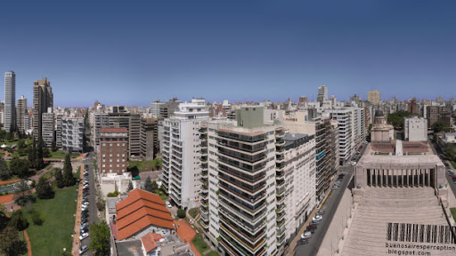 View on the Cityscape of Rosario from the Tower of the National Flag Monument, Argentina
