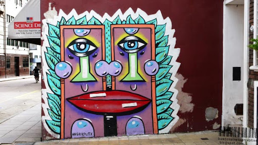 Grafitti in San Telmo by an Street Art Artist called LOUIS aka GROLOU in Buenos Aires, Argentina