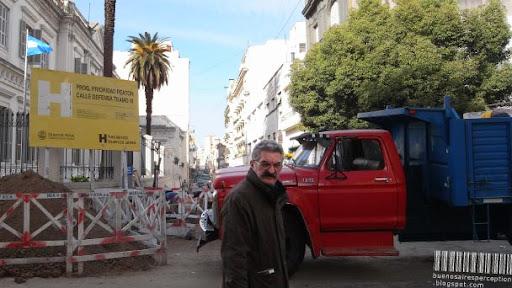 Man Ran into my Camera in San Telmo Buenos Aires, Argentina