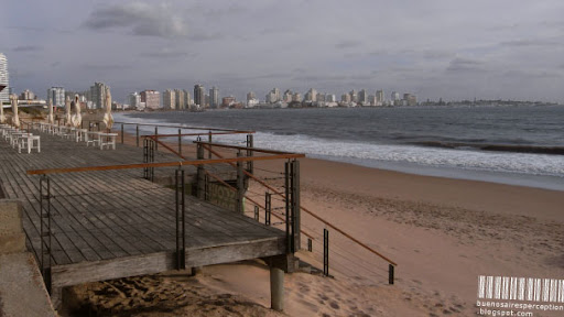 Empty Beach in Punta del Este, Ready for the Tourist Storm, Uruguay