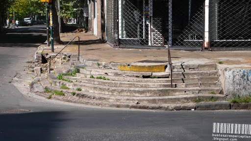 Crumbling Stairs in La Boca, Buenos Aires, Argentina