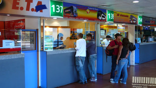 Counters at the Retiro Bus Terminal in Buenos Aires, Argentina