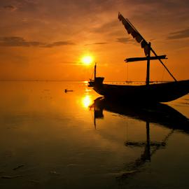 nice morning by Ahmad Sahroni - Transportation Boats