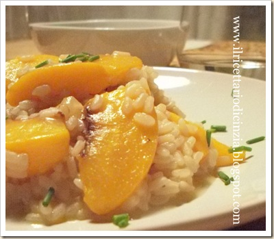 Risotto alle pesche gialle