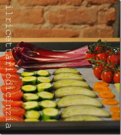 Cous cous di farro alle verdure e gamberoni al lime