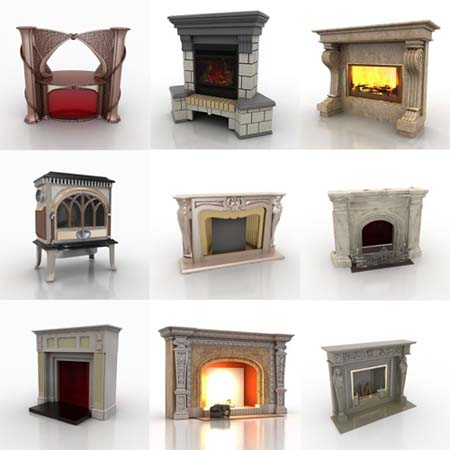 Fireplaces Collection - 3D Models