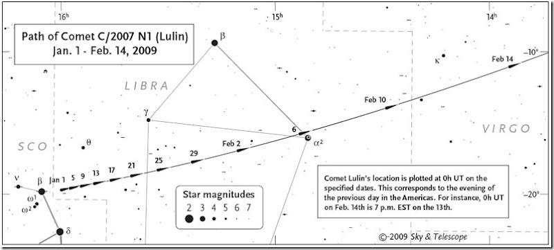 Cometa Lulin mappa1