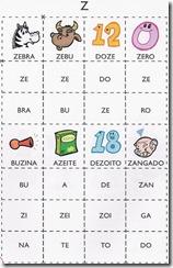 jogo das sílabas Z