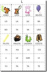jogo das sílabas L
