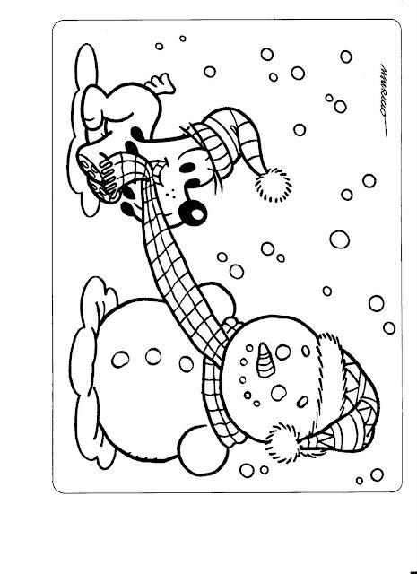 La navidad en laminas para pintar - Laminas de navidad para colorear ...