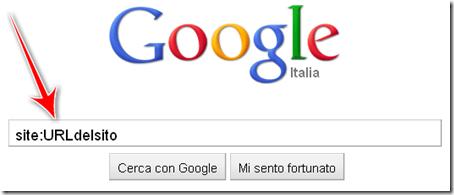 come trovare pagine sito web blog indicizzate google