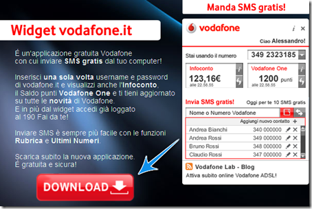 come inviare sms vodafone gratis internet