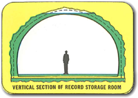 Cross section of a vault room
