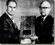 Van A Neiswender, left, honored for microfilm advancements